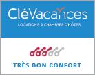 labelisation cle vacances -  gite avec label tres bon confort de location